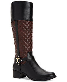 Charter Club Helenn Wide-Calf Riding Boots, Created for Macy's