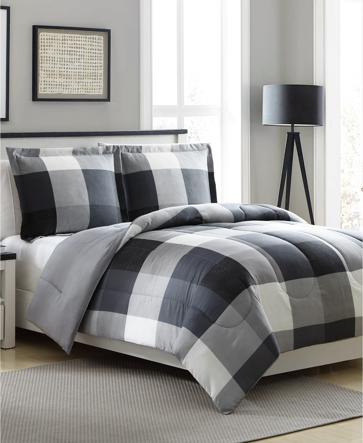Ellison First Asia Tanner Reversible 3-Piece Comforter Set (Full/Queen) $17.99
