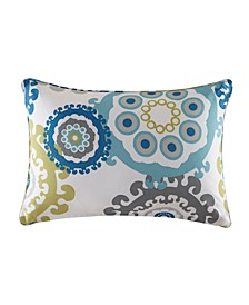 "Laguna 14"" x 20"" Printed Medallion 3M Scotchgard Outdoor Oblong Pillow"