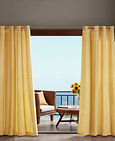 """Madison Park Pacifica 54"""" x 95"""" Grommets Solid 3M Scotchgard Outdoor Panel"""