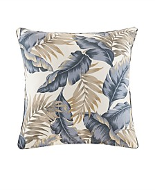 """Madison Park Coco 20"""" x 20"""" Printed Leaf 3M Scotchgard Outdoor Square Pillow"""