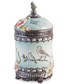 Fitz and Floyd English Garden Round Canister