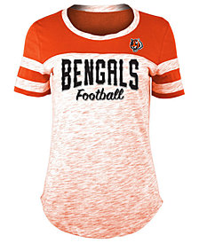 5th & Ocean Women's Cincinnati Bengals Space Dye T-Shirt