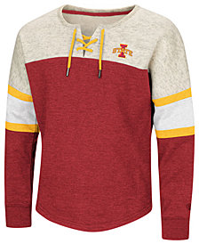 Colosseum Iowa State Cyclones Lace Up Pullover Sweatshirt, Girls (4-16)