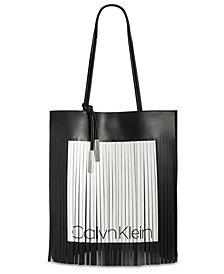 Calvin Klein Nora Logo Fringe Tote