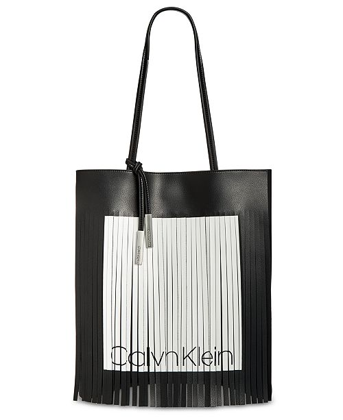 d78a9e50da Calvin Klein Nora Logo Fringe Tote   Reviews - Handbags ...