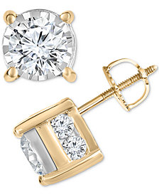 TruMiracle® Diamond Layered Stud Earrings (1-1/2 ct. t.w.)