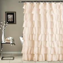 """Ruffle Shower 72""""x 72"""" Curtain"""