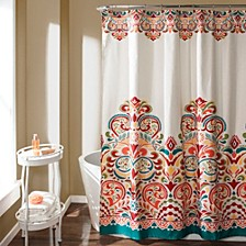 "Clara 72""x 72"" Bohemian Print Shower Curtain"