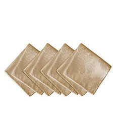 Elrene Barcelona  Beige Set of 4 Napkins