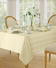 Elrene Denley Stripe Ivory Table Linen Collection