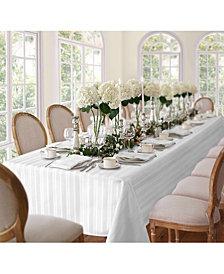 """Elrene Denley Stripe White 52"""" x 70"""" Tablecloth"""