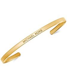 Women's Custom Kors Branded Sterling Silver Nesting Bracelet Insert