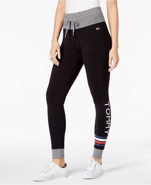 e3527d99 Tommy Hilfiger Logo Drawstring-Waist Leggings & Reviews - Pants ...