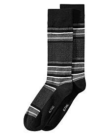 AlfaTech by Alfani Men's Blocked-Stripe Dress Socks, Created for Macy's