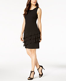 Connected Petite Ruffled A-Line Dress