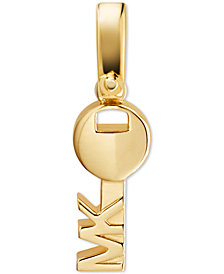 Michael Kors Sterling Silver Key Charm
