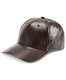 I.N.C. Men's Faux-Leather Baseball Cap, Created for Macy's