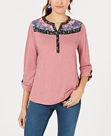 Style & Co Petite Utility Top, Created for Macy's