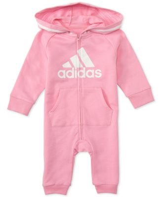 Baby Girls Hooded Coverall