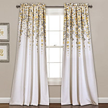 "Weeping Flowers Room Darkening 52"" x 84"" Window Curtain"
