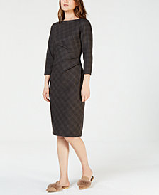 Weekend Max Mara Boat-Neck Ruched Dress