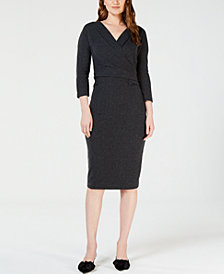 Weekend Max Mara Giglio Surplice-Neck Sheath Dress