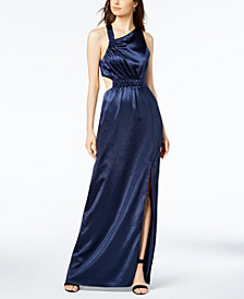 Avec Les Filles Cutout Asymmetrical Maxi Dress