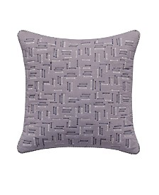 "Splendid Quilted 18"" Square Decorative Pillow"