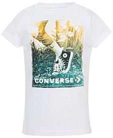 Converse Big Girls Photorealistic Logo Print Cotton T-Shirt