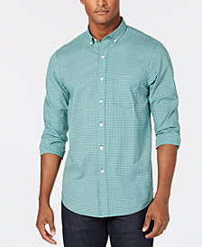 Club Room Men's Classic-Fit Stretch Mini-Gingham Shirt, Created for Macy's