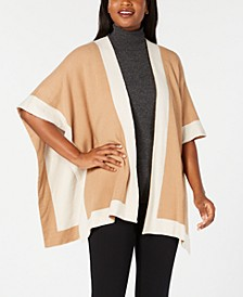 Solid Knit Reversible Poncho, Created for Macy's
