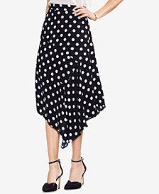 Vince Camuto Asymmetrical Polka-Dot Skirt