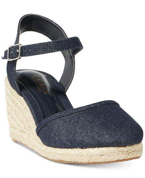 b340cc15b Lauren Ralph Lauren Hayleigh Espadrille Platform Wedge Sandals ...