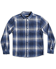 Quiksilver Big Boys Fatherly Plaid Cotton Shirt