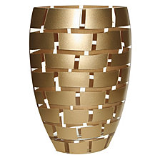 Gold Wall 12 Inch Vase