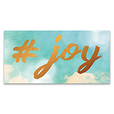 Hashtag Joy Hand Embellished Canvas