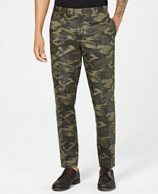 I.N.C. Men's Slim-Fit Camo Pants, Created for Macy's