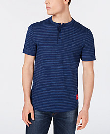 Calvin Klein Jeans Men's Jacquard Striped Henley