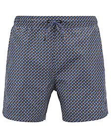 BOSS Men's Lightweight Patterned Swim Shorts