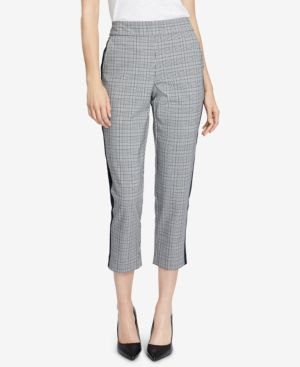RACHEL RACHEL ROY Cropped Plaid Pants, Created For Macy'S in Heather Grey Combo