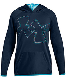 Under Armour Big Girls Armour Fleece Logo-Print Hoodie