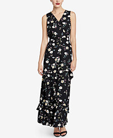 RACHEL Rachel Roy Printed Surplice Maxi Dress, Created for Macy's