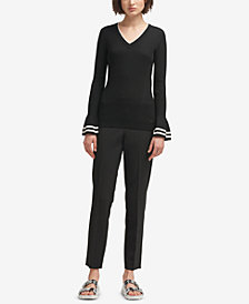 DKNY Bell-Sleeve Sweater, Created for Macy's
