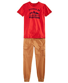 Epic Threads Big Boys Graphic-Print T-Shirt & Jogger Pants Separates, Created for Macy's