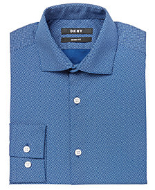 DKNY Big Boys Crosshatch Shirt