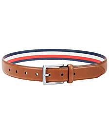 Tommy Hilfiger Big Boys Belt with Striped Lining