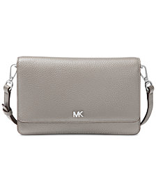 Michael Kors Pebble Leather Phone Crossbody Wallet