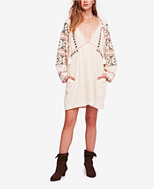 Free People All My Life Embroidered Smocked Dress