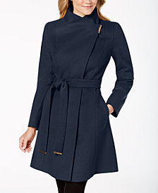 MICHAEL Michael Kors Asymmterical Belted Coat
